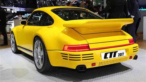 porsche ruf yellowbird ruf scr rocks geneva with retro porsche look and 503 hp