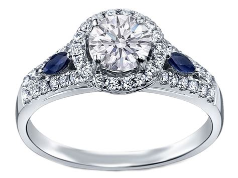 engagement ring halo engagement ring blue