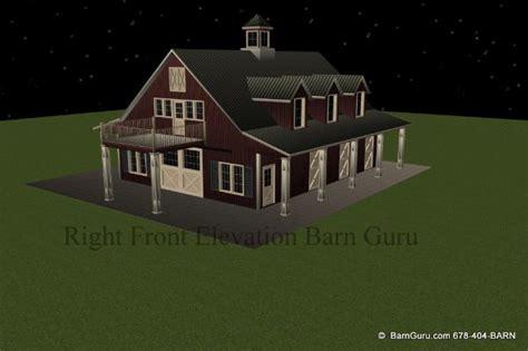 horse barn plans  living quarters  stalls
