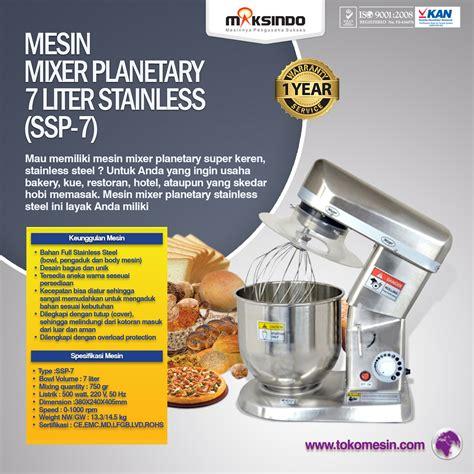 jual mesin mixer planetary 7 liter stainless ssp 7 di