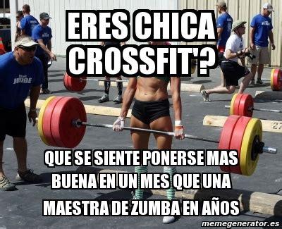 Memes De Gym En Espaã Ol - meme personalizado eres chica crossfit que se siente