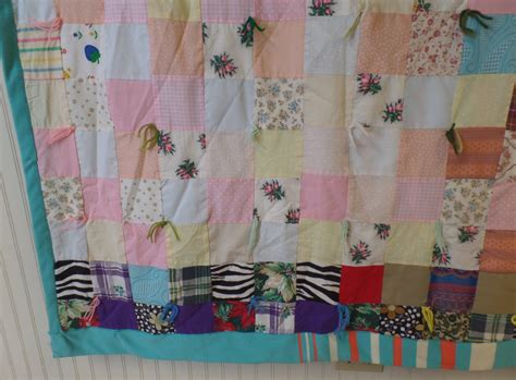 Patchwork Cottage - vintage patchwork country cottage chic quilt sz