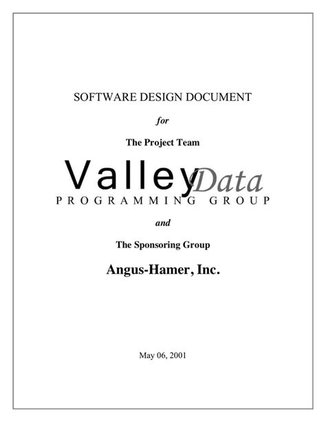 software design document software design document template in word and pdf formats