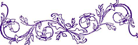 Aqua Bottom Putih purple flower frame clip at clker vector clip