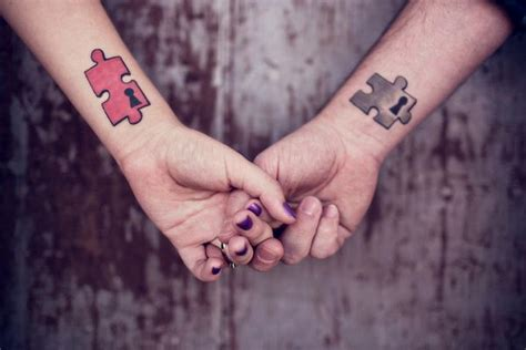 puzzle piece tattoo for couples 40 cool puzzle piece tattoo design ideas hative