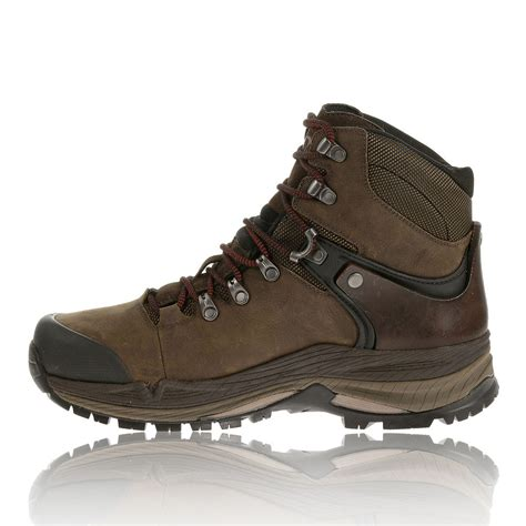 merrell crestbound mens brown waterproof tex walking