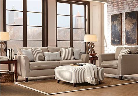 shop for a east shore beige 3 pc living room at rooms to