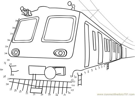 printable dot to dot train commuter train dot to dot printable worksheet