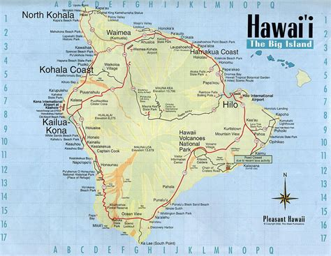 big map of usa detailed map of big island of hawaii with roads and other