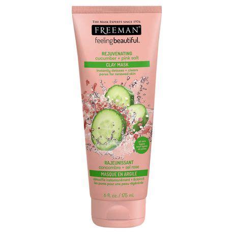 Freeman Clay Mask Pink Salt freeman feeling beautiful rejuvenating cucumber pink
