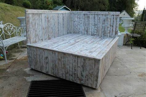 diy pallet outdoor bed diy pallet outdoor bed sectional pallet bed 101 pallets