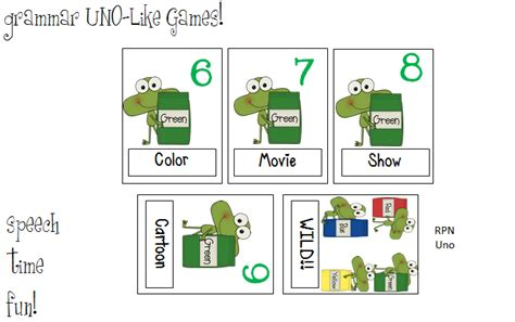 make your own uno cards vocabulary grammar uno like card