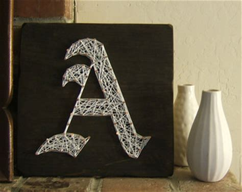 How To Make String Letters - 4 letter modern string wooden name tablet made to order