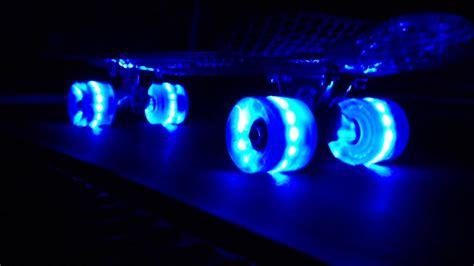penny board light up wheels snitto nyc led light up skateboard cruiser youtube