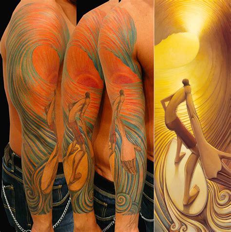 surfer tattoo tattoos of jays alders surf figurative