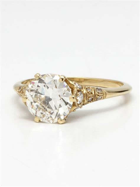 Edwardian Engagement Rings by Edwardian Style Gold And Engagement Ring At 1stdibs