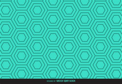 hexagonal pattern stock vector green linear hexagonal pattern vector download