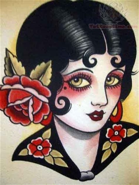old school woman tattoo design old school girl tattoo designs very tattoo