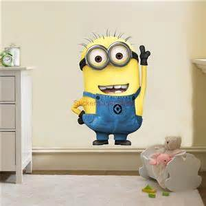 minion wall stickers huge despicable me minion movie decal removable wall