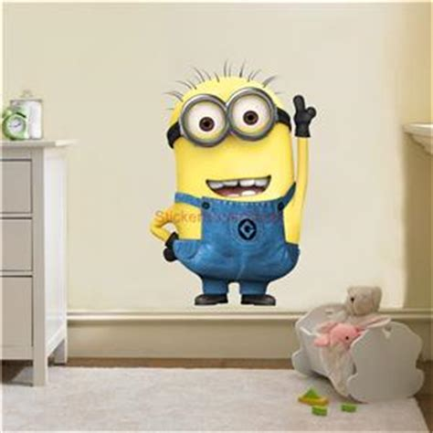 Wallstiker 5d despicable me minion decal removable wall sticker