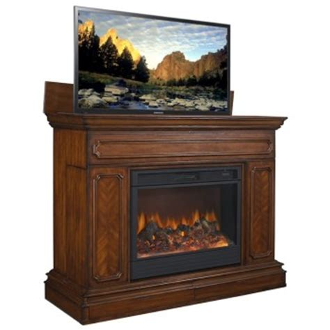 fireplace tv lift television stands our 6 favorite tv lift cabinets 2014