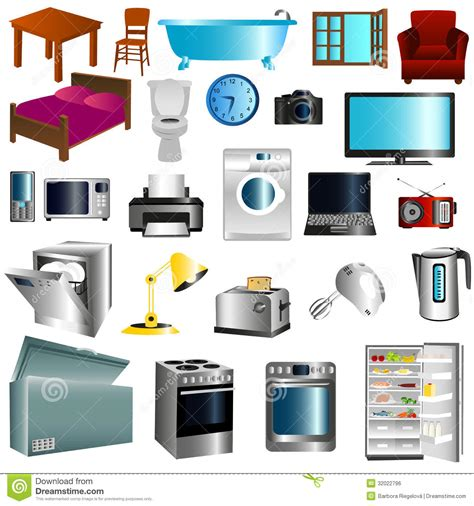 furniture and appliances stock illustration image of