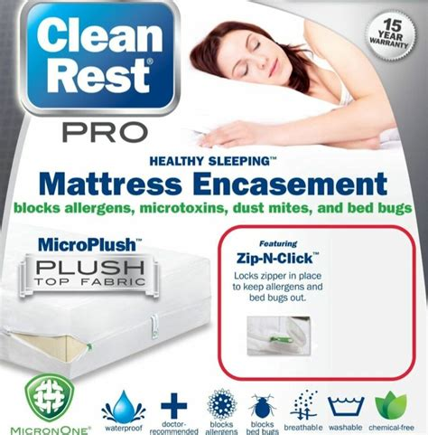 bed bug proof mattress box spring cover protector set queen size fits   ebay