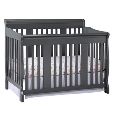 Storkcraft Tuscany 4 In 1 Convertible Crib In Gray Free Shermag Tuscany Convertible Crib