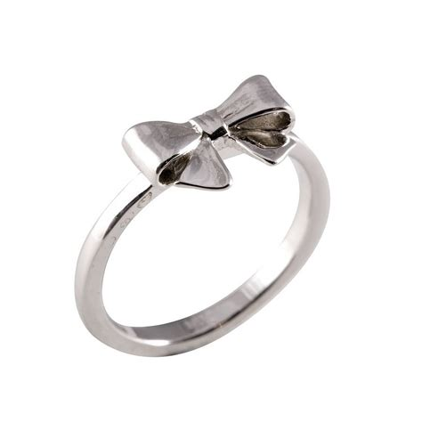 Silver Tapered Bow Ring silver bow ring by everley notonthehighstreet