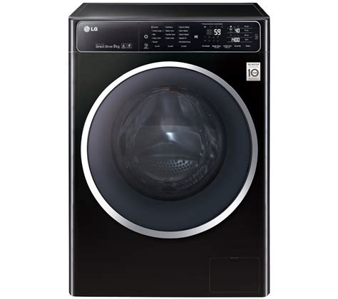 black machine lg f14u1fcn8 washing machine black
