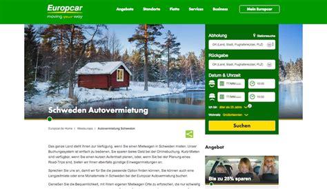Auto Mieten Schweden by Mietwagen In Schweden Alle Seri 246 Sen Anbieter