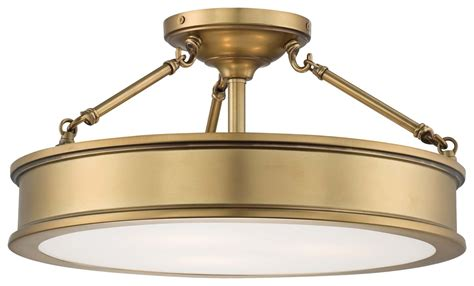 Minka Lavery Lighting Fixtures Minka Lavery 4177 249 Liberty Gold 3 Light Semi Flush Ceiling Fixture From The Harbour Point