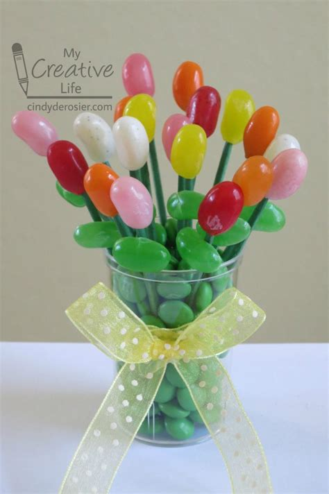 miniature edible jelly bean bouquet family crafts