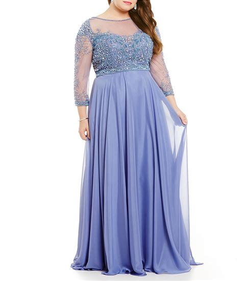 terani couture beaded gown terani couture plus beaded lace chiffon gown dillards