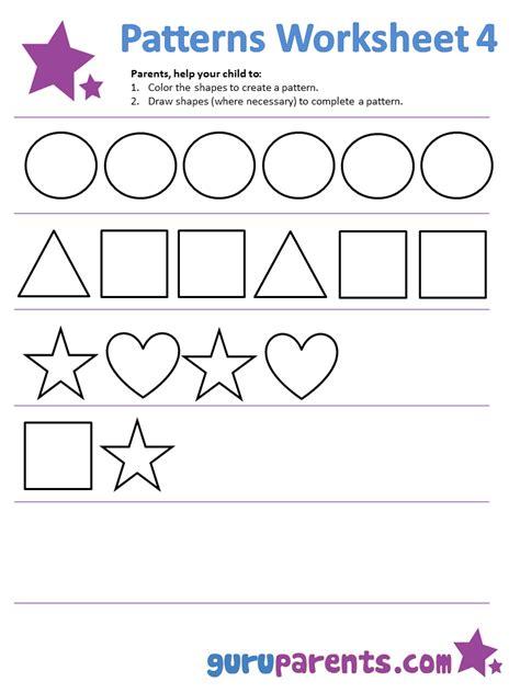 easy pattern worksheet patterns worksheet worksheets