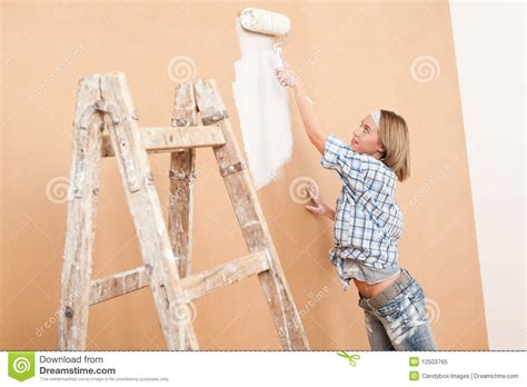 home improvement painting wall royalty free stock