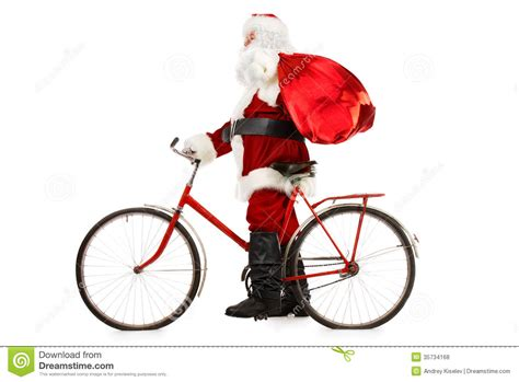 ride on bicycle stock photo image of costume claus