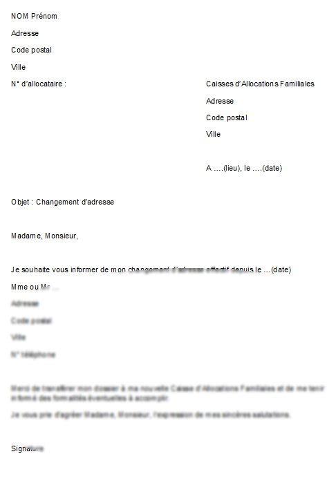 modele lettre pour demenagement document