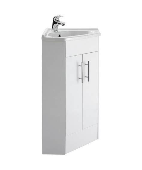 lauren mayford high gloss white 459mm corner mirror cabinet lauren mayford 555mm double door corner cabinet and basin