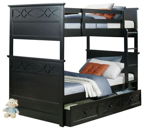 Three Bunk Bed Set Homelegance Sanibel 3 Bunk Bed Bedroom Set In Black Traditional Bedroom
