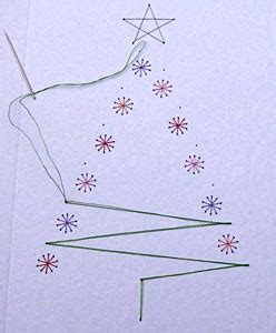 tree card stitch template how to create handmade stitching cards step by step with