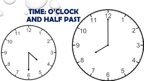 clock worksheets o clock and half past time o clock and half past by tandlguru teaching