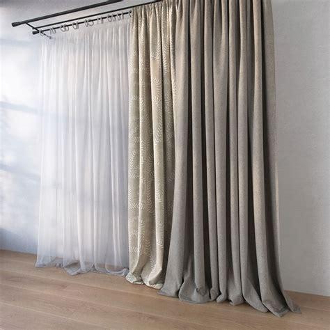 3d curtains curtain 3d model max obj fbx cgtrader com