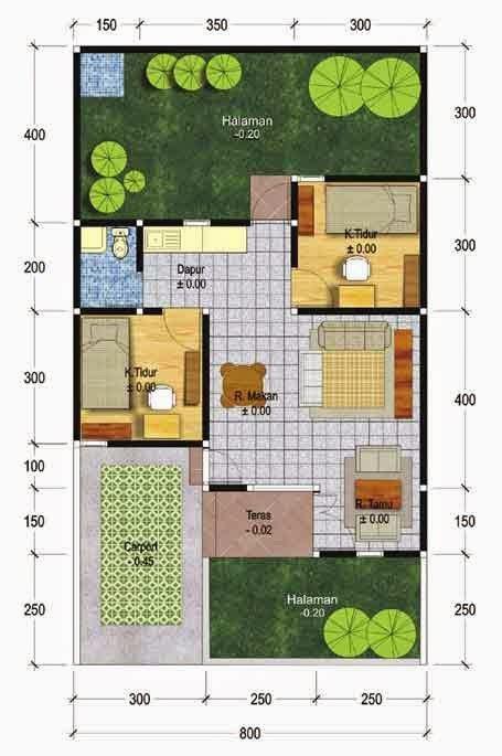 denah desain interior rumah minimalis 5 contoh denah rumah minimalis type 45 desain rumah