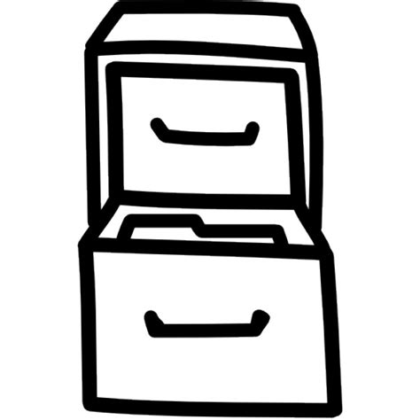 schublade icon schubladen gezeichnet werkzeug umriss der