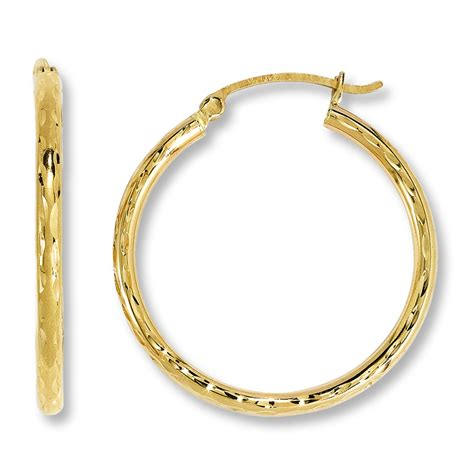 hoop earrings 14k yellow gold