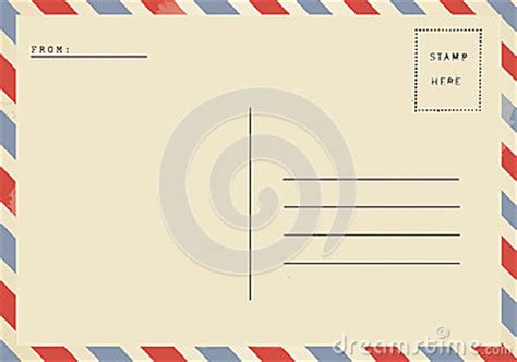 back of airmail blank postcard stock photo image 43232579