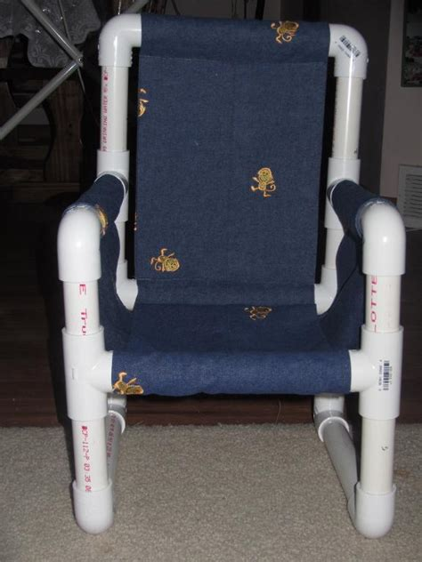 pvc crafts projects you to see connor s pvc pipe chair on craftsy