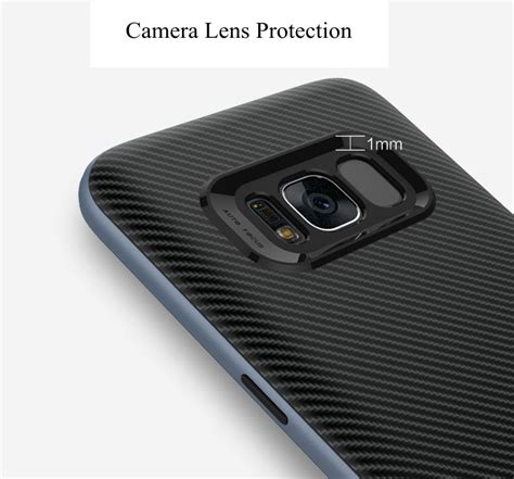 Sale Ipaky Carbon Fiber Samsung Galaxy S8 Plus Soft Series carbon fiber pc frame tpu back for samsung galaxy s8 plus sale banggood