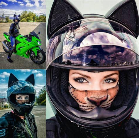 Motorradhelm Katzenohren by Cat Ear Motorcycle Helmets She Rides Lkw